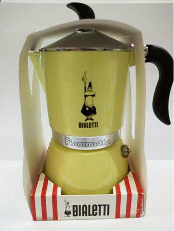 Bialetti Fiammetta Stovetop Espresso Maker (3-Cup, Yellow)