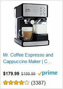 Mr. Coffee Espresso and Cappuccino Maker Café Barista