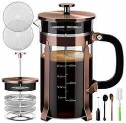 Veken French Press Coffee Maker (34 oz), 304 Stainless Steel Coffee Press