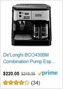 De'Longhi BCO430BM Combination Pump Espresso and 10c Drip Coffee Machine