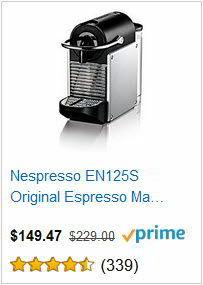 Nespresso EN125S Original Espresso Machine by De'Longhi
