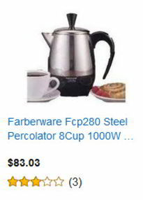 Farberware Fcp 280 Stainless Steel Percolator 8-cup