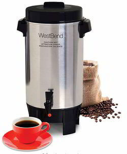West Bend 58002 12-42 Cup Automatic Party Perk Coffee Urn