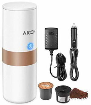 Portable Single Serve Coffee Maker, 2 in 1 Coffee Machine for for Most Single Cup Pods