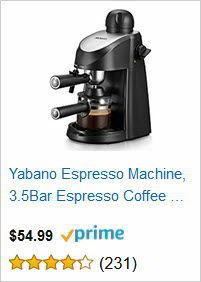 Yabano Espresso Machine, 3.5 Bar Espresso Coffee