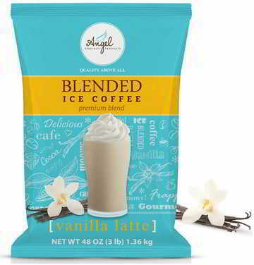Angel Specialty Products Vanilla Latte Blended Ice Coffee Frappe Mix 3-Pound Bag [34 Servings]