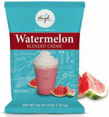 Angel Specialty Products, Blended Smoothie, Frappe Powder Mix, Watermelon [3 LB] [34 Servings]
