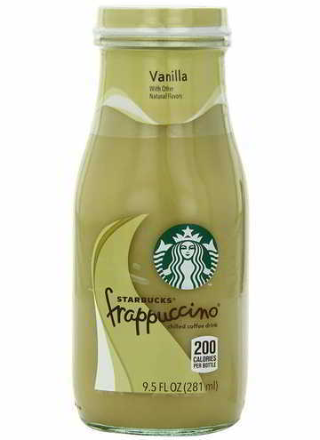 Starbucks Bottled Coffee Drink, Frappuccino Chilled with Natural Vanilla Flavors, 9.5 FL oz - 12 Pack