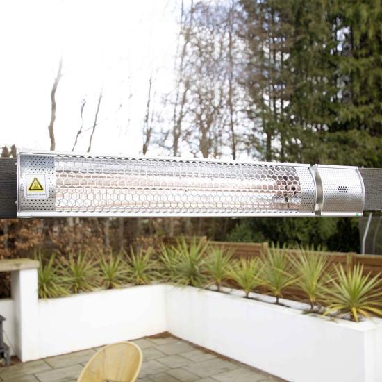 ecostrad sunglo infrared patio heater silver