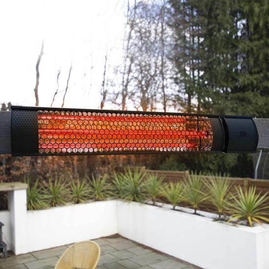ecostrad sunglo infrared patio heater black