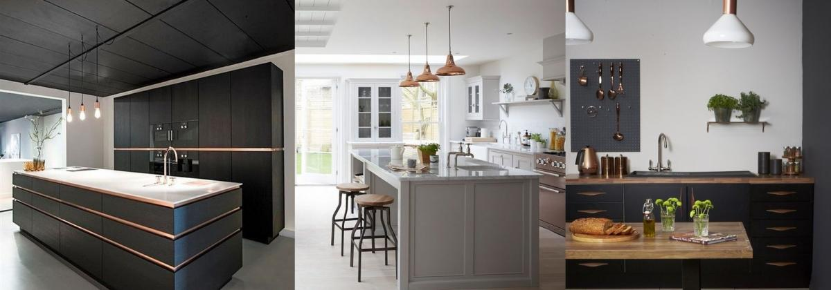 copper and grey kitchen ideas