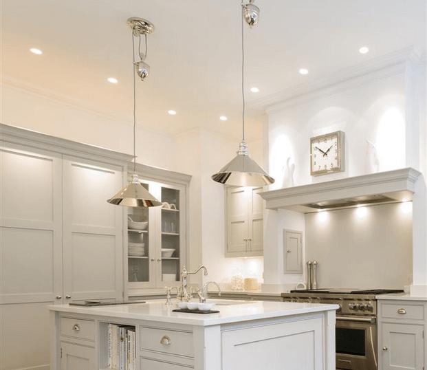modern traditional kitchen lighting