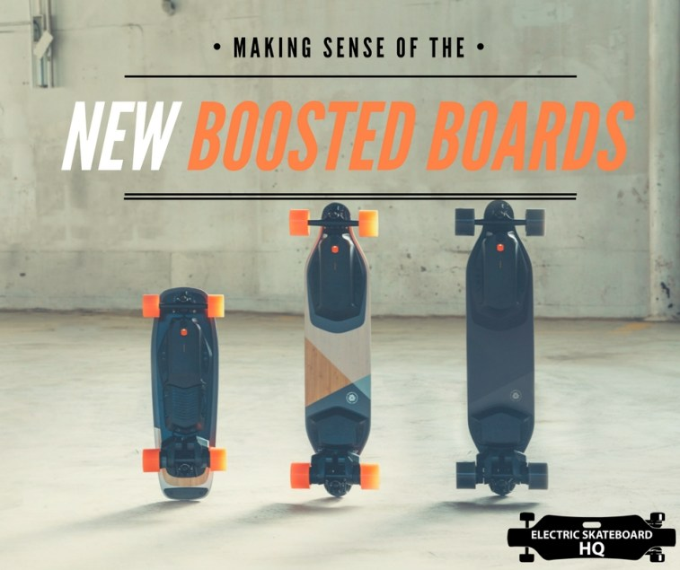 Making sense of the new Boosted Boards | Electric Skateboard HQ