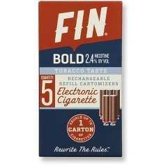 FIN E CIG Bold Tobacco Cartomizer 5-Pack