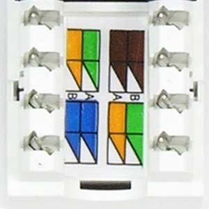 RJ45 110 Type Keystone Jacks | Cat6 | Networking