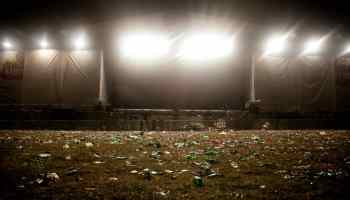 Waste after a festival