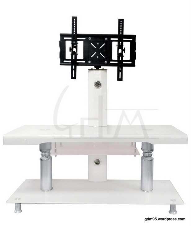 meuble tv en verre trempe blanc tv50b electro discount