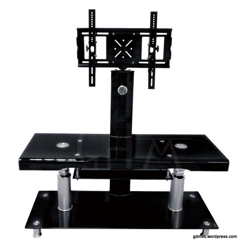meuble tv verre trempe noir tv50n electro discount