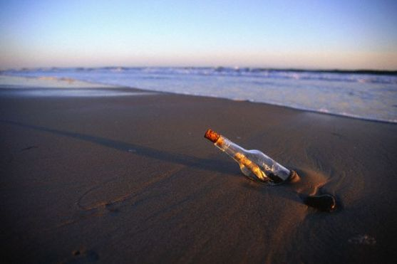 Message in a Bottle Washed Ashore