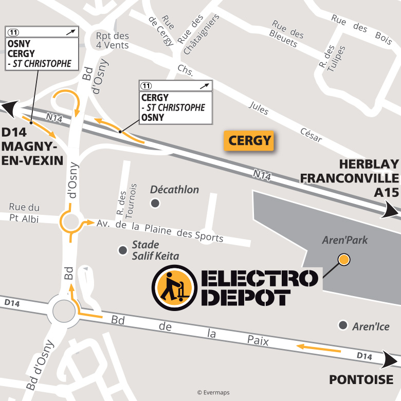 magasin electro menager cergy val d