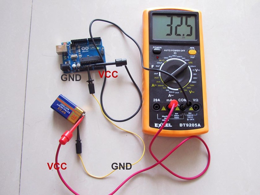 Measure a system current consumption draw arduino in case