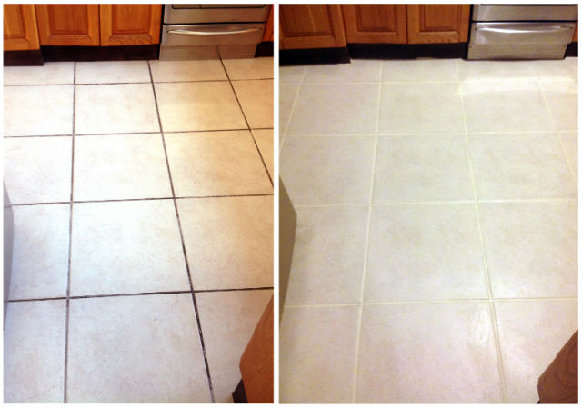 tile grout cleaning and re colouring
