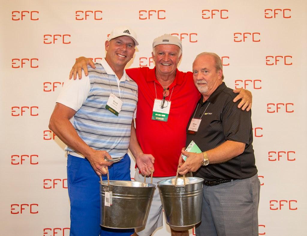 Brock Horton – left, Bill Smith – right, Chris Scott center