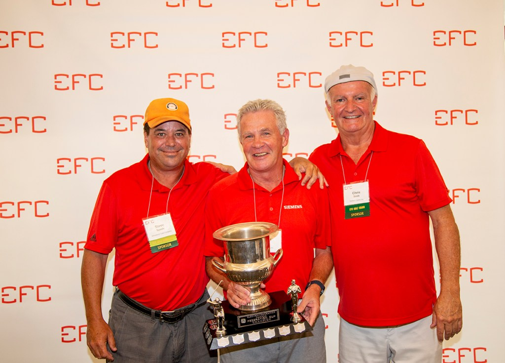photo of Overall 1st Place Individual Champion Winner: David Hines (centre)