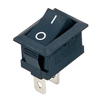 On off IO 2 position SPST panel mount snap in boat rocker switch 2 pin - Electrogeek