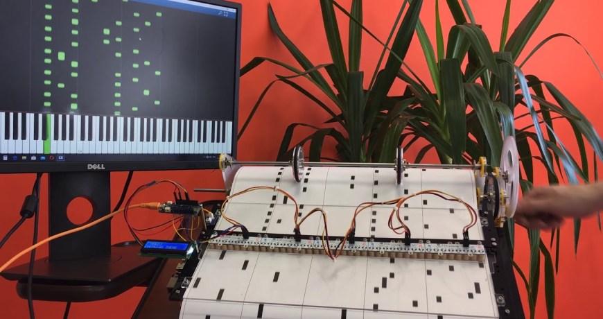 piano de barril arduino reproduce partituras codificadas 5eeab6bae5265 - Electrogeek