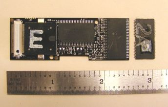memory board & removed chip