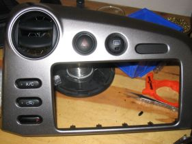 switch panel cover removed