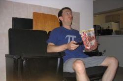 Rob enjoys his BSG!