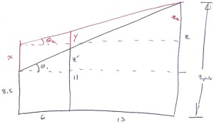 aluminum pole trigonometry