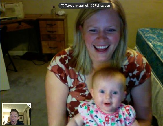 Iris loves to video chat!