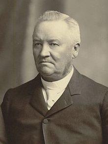 Anthon H. Lund, esteemed apostle of the Quorum of Twelve, circa 1889