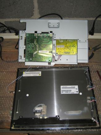 LCD removed