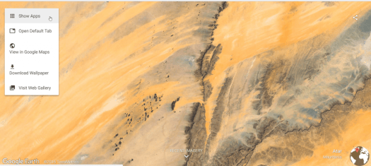 Google Earth new tab