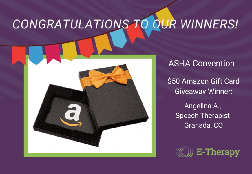 E-Therapy announces ASHA Conference giveaway winners