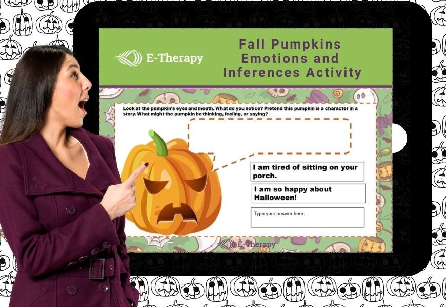 free online halloween activity for kids from E-Therapy