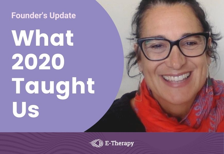 Diana Parafiniuk E-Therapy Founder's update
