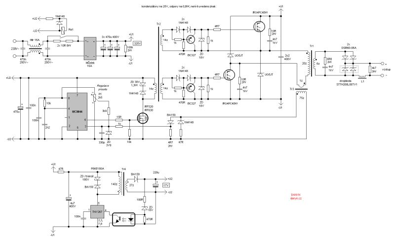 Circuito de la máquina de soldar inverter