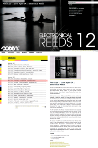 20111130 - Felix Cage - Love Again EP (Electronical-Reeds) on Sceen.fm