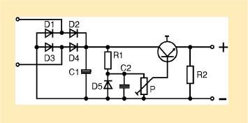Fuente de alimentación regulable circuito