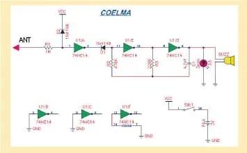 Multitester Detector de Continuidad y Tensiones componentes esquema