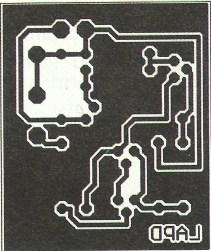 Parte posterior de la placa (lado de soldaduras)