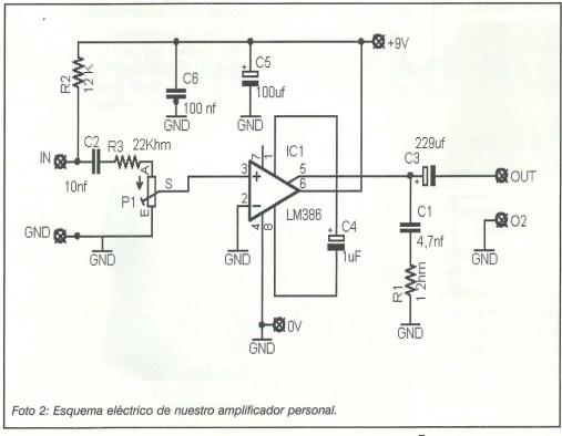Amplificador esquema