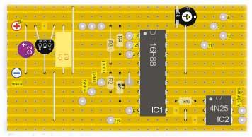 Figura 1.- Colocación de los componentes en la placa