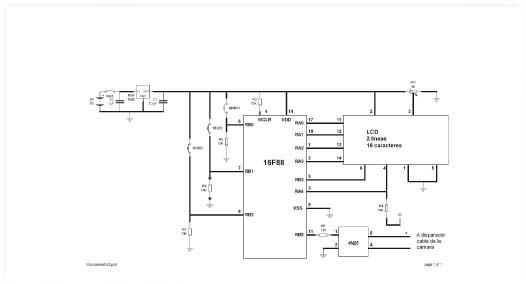Figura 2.- Esquema eléctrico del circuito