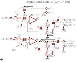 AMPLICADOR ESTÉREO 8W RMS Hi-Fi